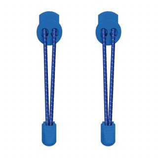 Relfecterend blauwe schoenveters met sluitsysteem