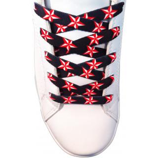 Schoenveters - 10mm Rode sterren