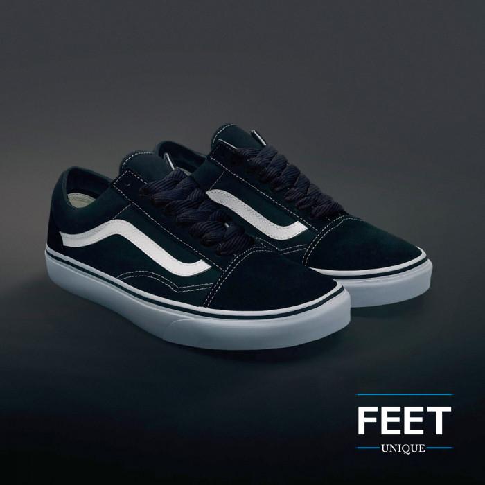 Extra brede zwarte schoenveters
