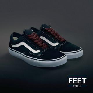Extra brede donkerbruine schoenveters