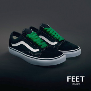Extra brede groene schoenveters