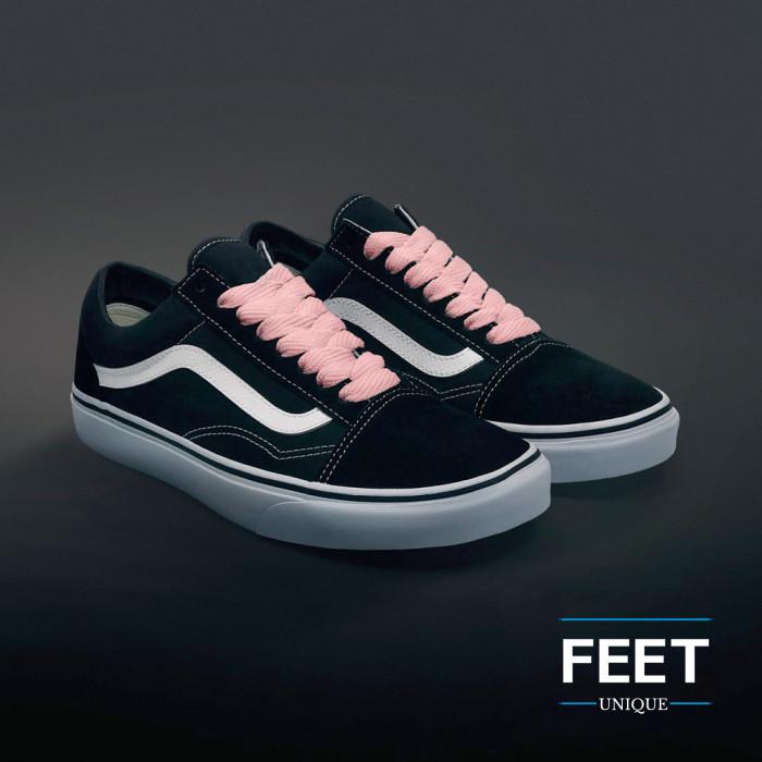 Extra brede roze schoenveters