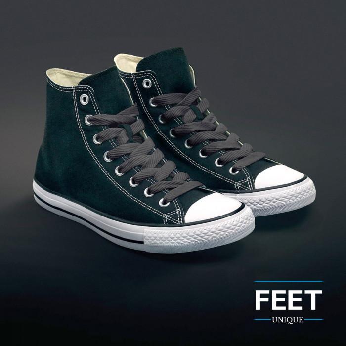 Extra brede donkergrijze schoenveters