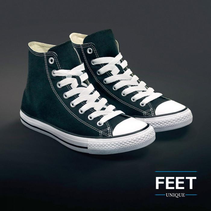 Extra brede witte schoenveters