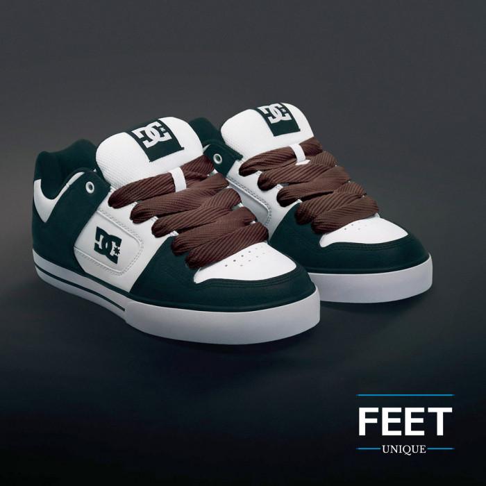 Super brede donkerbruine schoenveters