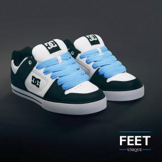 Super brede lichtblauwe schoenveters