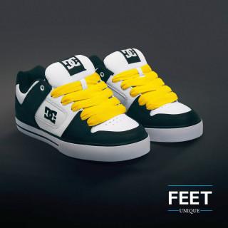 Super brede gele schoenveters