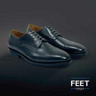 Dunne ronde donkergrijze schoenveters