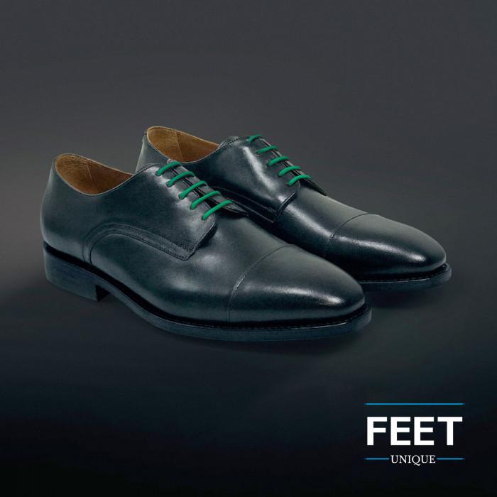 Dunne ronde groene schoenveters