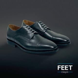 Dunne ronde lichtgrijze schoenveters