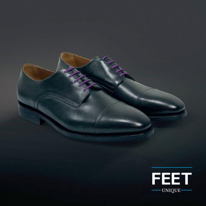 Dunne ronde paarse schoenveters