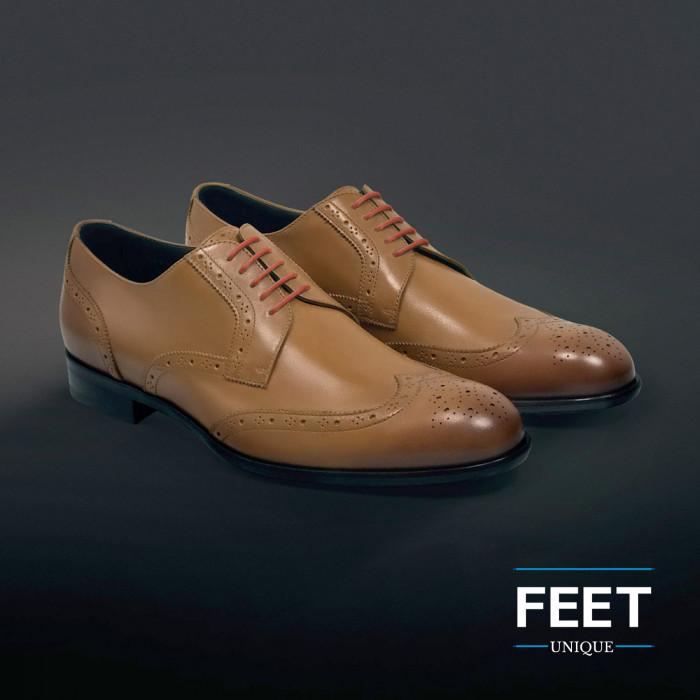 Dunne ronde oranje schoenveters