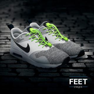 Elastische schoenveters - 3mm Neon Geel