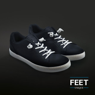 Witte spiraal schoenveters