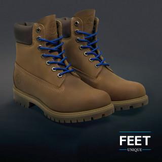 Ronde blauwe schoenveters
