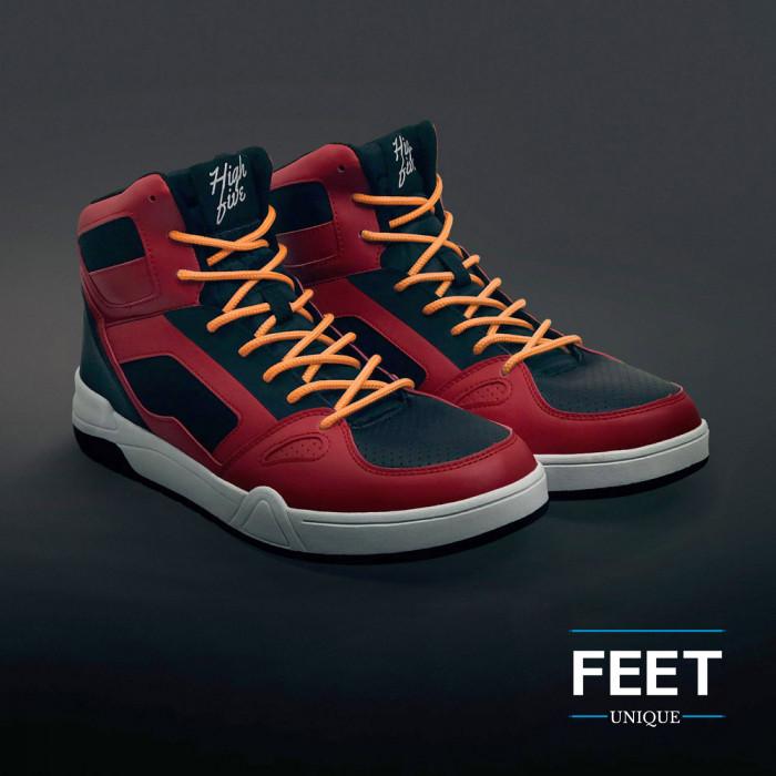 Ronde oranje schoenveters