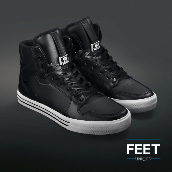 Platte lederen zwarte schoenveters