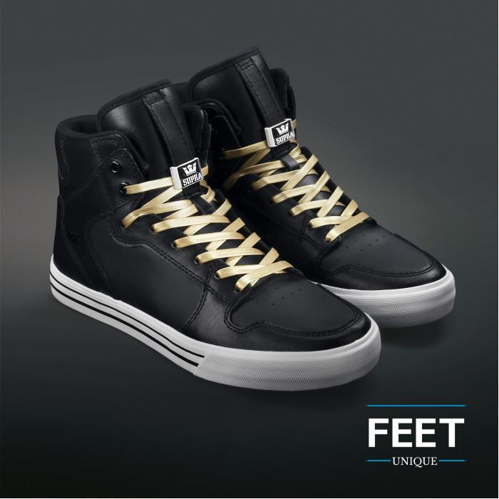 Gouden lederen schoenveters