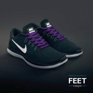 Ovale paarse schoenveters