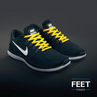 Ovale gele schoenveters