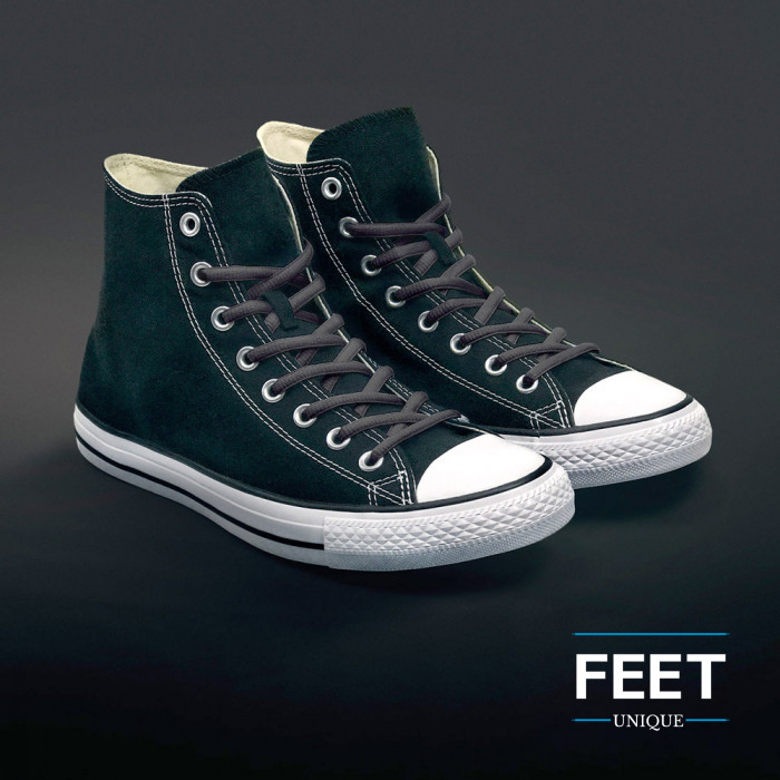 Ovale donkergrijze schoenveters