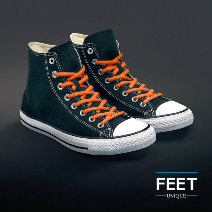 Ovale oranje schoenveters