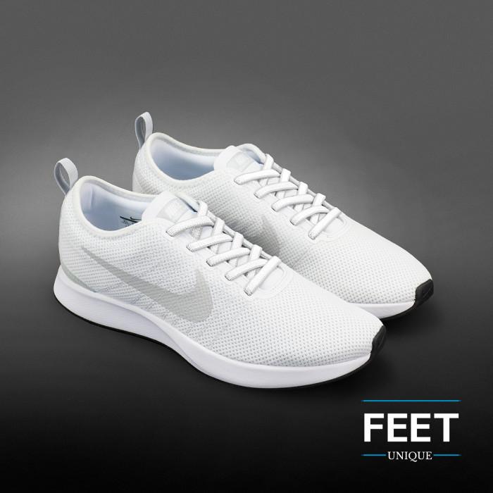 Elastische platte witte schoenveters (zonder strik)