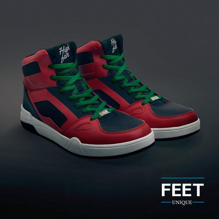Platte groene schoenveters