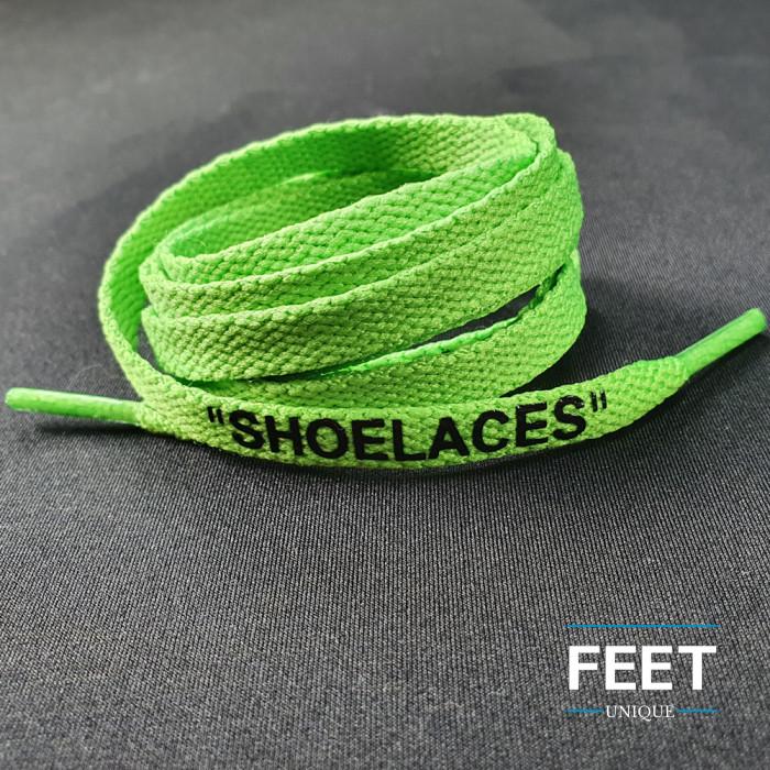 Groene OFF-WHITE Schoenveters