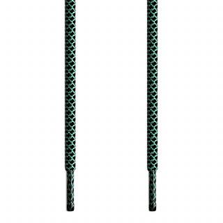 Adidas Yeezy - Schoenveters Zwart met Groen
