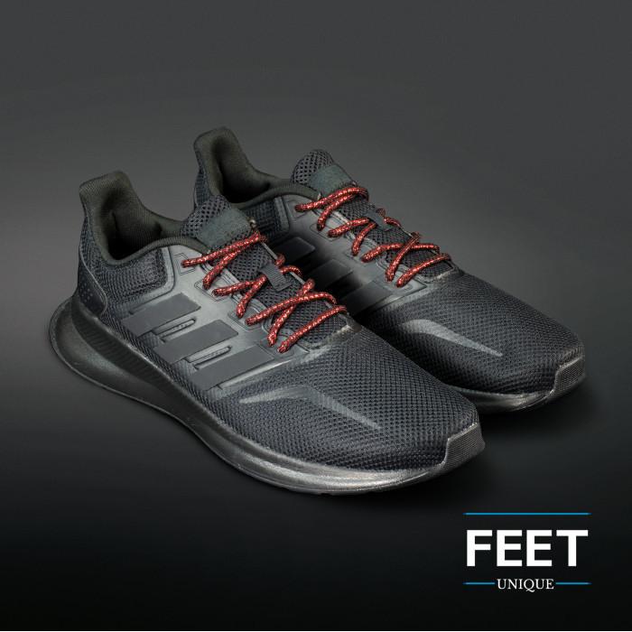 Adidas Yeezy - Schoenveters Zwart met Metallic Rood