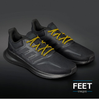 Adidas Yeezy - Schoenveters Zwart met Geel